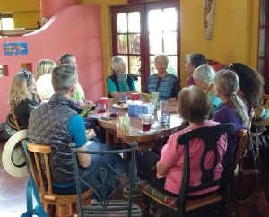 Connie and Fran share stories, laughs, and more thought-provoking conversation about the book with friends in Guatemala